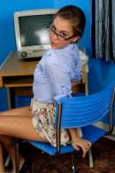 Riley Reid in upskirts and panties gallery from ATKPETITES - #9