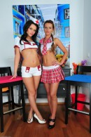 Frida & Megan Promesita in footfetish gallery from ATKPETITES - #1