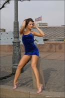Julia in Blue Velvet gallery from MPLSTUDIOS by Alexander Fedorov - #13