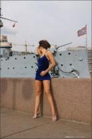 Julia in Blue Velvet gallery from MPLSTUDIOS by Alexander Fedorov - #5