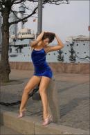 Julia in Blue Velvet gallery from MPLSTUDIOS by Alexander Fedorov - #9