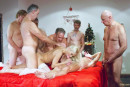 Nesty in Christmas Gang-Bang gallery from OLDJE - #3